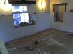 Cottage room with halfplastering