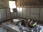 Preparing half wall forplastering